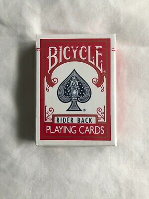 1 Deck of Bicycle Rider Back (RED) Playing Cards (BLUE SEAL) OHIO MADE Rare Deck