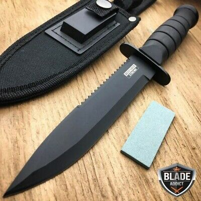 "10.5"" Fixed Blade Tactical Fishing Hunting Survival Bowie CAMP Knife + SHEATH -b"