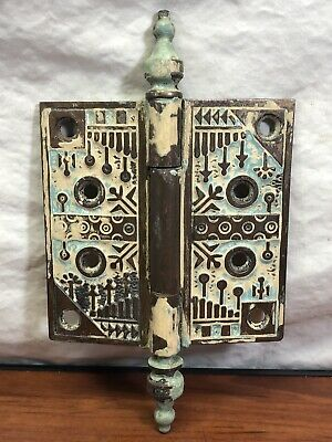 Vintage Victorian House Find Old Decorative Ornamental Antique Brass Door Hinge