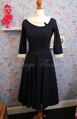 Pretty Dress Company 50s Vintage Couture Style Mistress Pinup Swing Dress UK12
