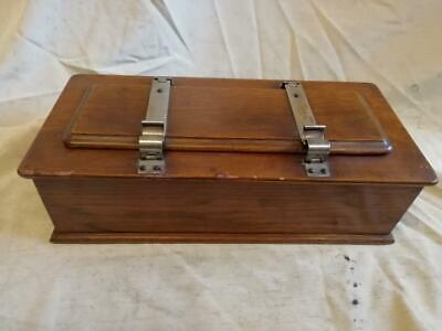 Antique Watts Collar Box With Tie Press