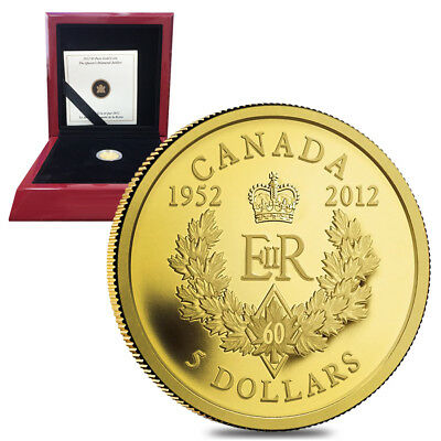 Queen's Diamond Jubilee Royal Cypher - 2012 Canada $5 Gold Coin
