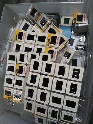Lot of 100 Vintage 35mm Color / Black White Art Slides Kodak Seattle Film Works