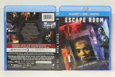 Escape Room (Blu-Ray/DVD,2-Disc) FREE Shipping Russle Miller Labine No Digital