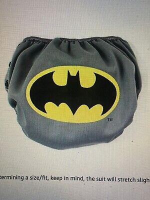 NEW Bumkins DC comics Reusable Swim Diaper, Batman Icon, Small