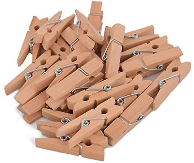 100Pack Small Clothespins Wood Arts Crafts Decor Photo Paper Peg Pin Craft Clips