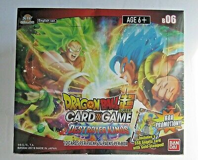 DRAGON BALL Super DESTROYER KINGS Booster Box Factory Sealed B06 !!!