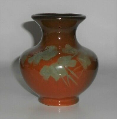 Roseville Pottery Rozane Floral Decorated Cabinet Vase