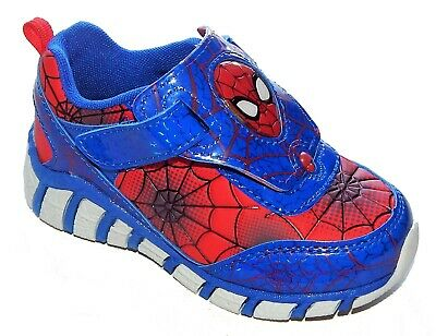 SPIDER-MAN MARVEL Light-Up Sneakers Shoes w/ i-Turn NWT Size 8 9 10 11 or 12