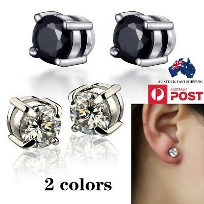 Classic Magnetic Magnet Diamond Studs No Piercing Clip On Stud Earrings Alloy