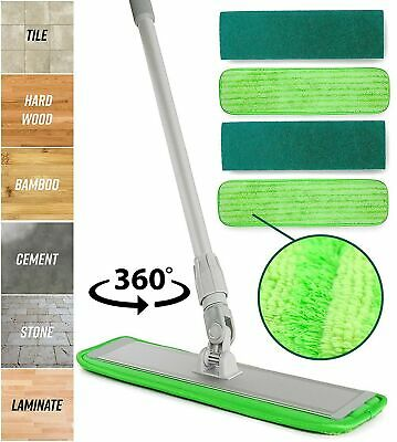 Microfiber Mop Floor Cleaning System - Washable Pads Perfect Cleaner for Hard...