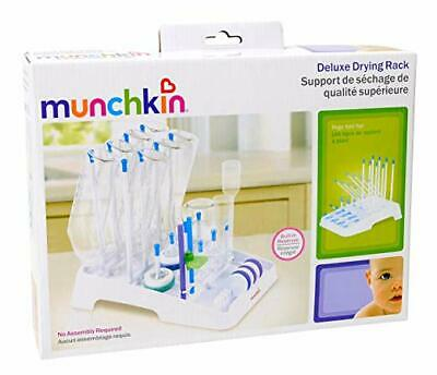 Munchkin Deluxe Drying Rack - NO ASSEMBLY - PEGS FOLD FLAT- HOLDS 8 BOTTLES