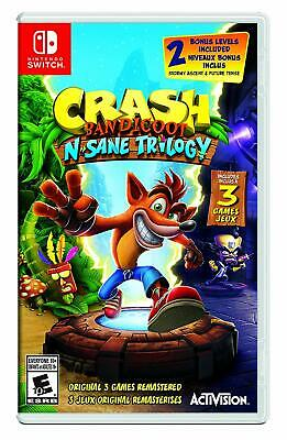 Crash Bandicoot N. Sane Trilogy-Bilingual-Nintendo Switch Games and Software