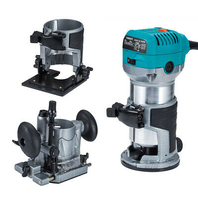 Electric Hand Trimmer Router Compact Kit Fix Base,Tilt & Plunge Base for Makita
