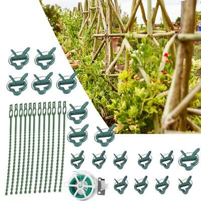 Tomato Veggie Garden Plant Support Grafting Clips With String Binding Strap