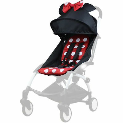 165° Sunshade Shed Cover Canopy & Seat Pad Mat For Baby YOYO Stroller Accessorie