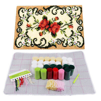Dog Latch Hook Kit Carpet Cushion Diy Needlework Crocheting