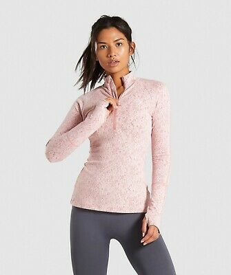 b82e8ef0a8d38e Gymshark Fleur Texture 1/2 Zip Pullover - Brick Red BRAND NEW SOLD OUT SMALL