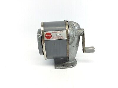 Vintage Apsco Giant Pencil Sharpener 6 Hole Wall /Desk Mount Old School