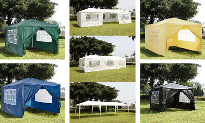 Gazebo Marquee Party Tent PE Waterproof Sizes 3x3/3x4/3x6m/2x2m Outdoor Garden