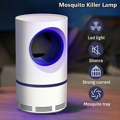 Silent Electric Insect Trap USB Pest Repeller Zapper Mosquito Killer Lamp