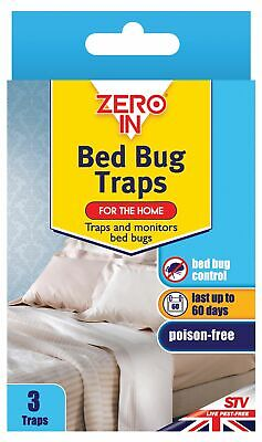 3 x Bed Bug Traps Kills Poison Free bug Control Solution Mite Carpet Beetle