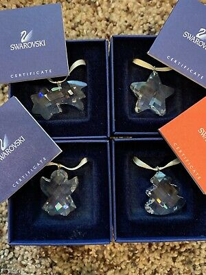 SWAROVSKI GIFT ORNAMENT comet, star, angel & tree *ENTIRE SET*
