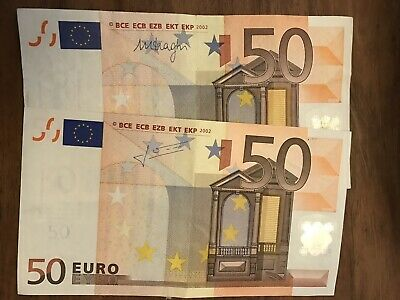 Left Over Holiday Money 100 Euros 2x 50 Euro Notes