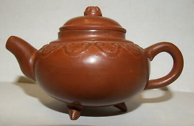 Superb Miniature Antique Chinese Yixing Zisha Teapot Signed Red Clay Pottery !!!