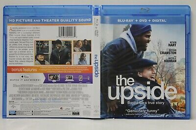 The Upside (Blu-Ray/DVD,2019,2-Disc) FREE Shipping Cranston Kidman No Digital