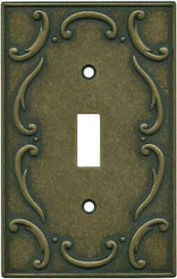 French Lace Burnished Antique Brass  Wall Plates & Outlet Covers