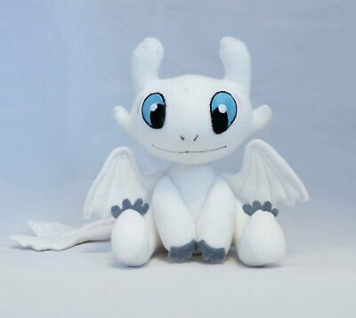 Jouet en Peluche, HOW TO TRAIN YOUR DRAGON Poupée Farcie De Dragon Blanc Jouet