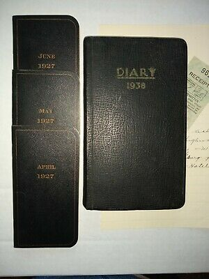WEST TEXAS MINISTER HANDWRITTEN DIARIES-Drought-Tornadoes-Sand Storms-Death-1927