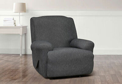 Amazing Sure Fit Stretch Denim Loveseat Slipcover In Black For A Box Uwap Interior Chair Design Uwaporg