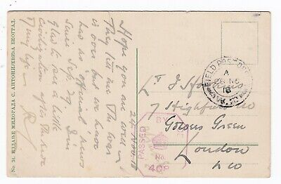 Scarce WW1 British Army FPO W2 1918 Belgrade Postcard Censored Banitsa - Uskub