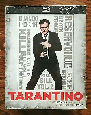 Quentin Tarantino Ultimate Collection Blu-ray NEW Sealed 8 Disc Pulp Fiction