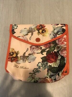 Ted Baker Pink & Orange Secret Garden Bloom Floral Large Make Up Toiletries Bag