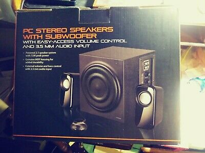 BLACKWEB PC STEREO Speaker System With Subwoofer - $40 00 | PicClick