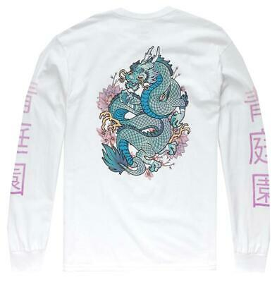 380c5eb572 La Familia Mmxiv Blue Dragon Long Sleeve Shirt White Streetwear Japanese Tee