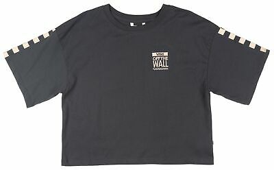 be4776d94c1628 Vans Off The Wall Checkered Cropped T-Shirt Womens Skate Top Charcoal