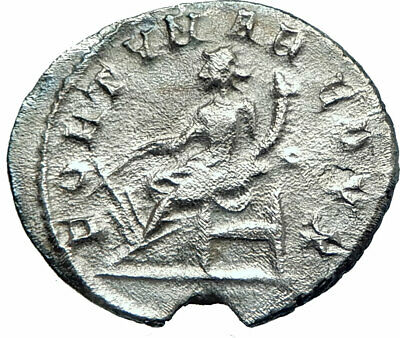 GORDIAN III 243AD  Ancient  Silver Roman Coin Fortuna Luck Wealth symbol  i78604