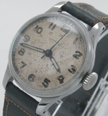 Longines 24H Dial Military Style Manual Wind Man Wrist Watch. Excellent Running