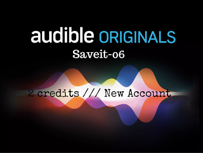 Audible 3 Credits New Account USE Any Book All Countries [ Read Description ]