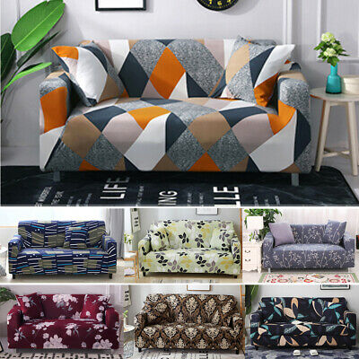 1/2/3/4 Sofa Covers Couch Slipcover Stretch Fabric Recliner Settee Protector Fit