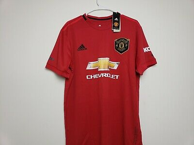 New adidas, 2019/20 Manchester United HOME UNIFORM, JERSEY, Large (L)