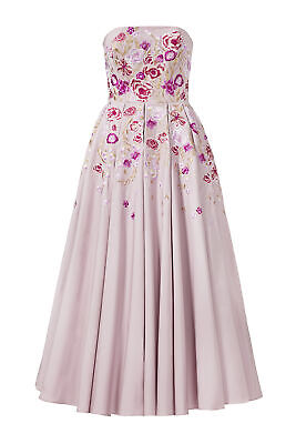 19cb80da Marchesa Notte Purple Wmns Size 12 Embroidered Floral Strapless Dress $995  #787