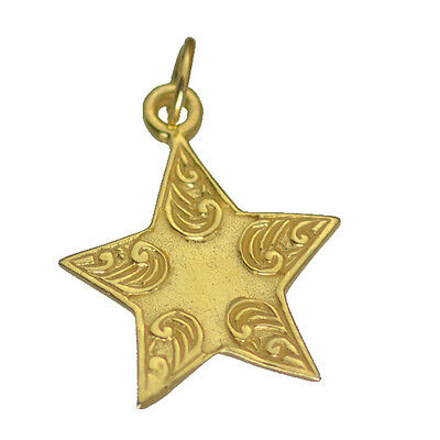 LOOK Gold Plated Silver Celtic Shooting Star spirit life earth water fire air Ch