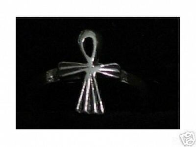 LOOK 0454 Ankh Cross Egyptian Life Genuine Sterling Silver .925 Ring Jewelry egy