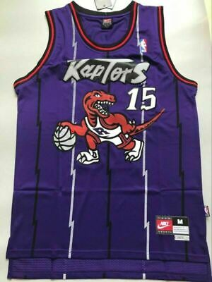 Toronto Raptors #15 Vince Carter Viola Throwback Swingman Basketball Jersey