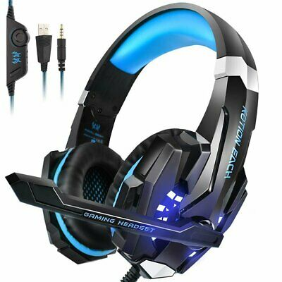 G9000 3.5mm Gaming Headset MIC LED Headphones for PC SW Laptop PS4 Slim Xbox One